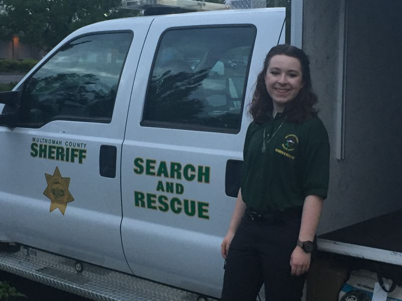 SUBMITTED PHOTO - Madison Ramsey graduated from the Multnomah County Sheriff's Office Search and Rescue Program last May.