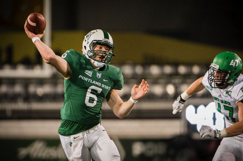 COURTESY: PORTLAND STATE UNIVERSITY - Davis Alexander, from Gig Harbor, Wash., got his chance to start last week and sparked Portland State's passing offense in a loss at Cal Poly.