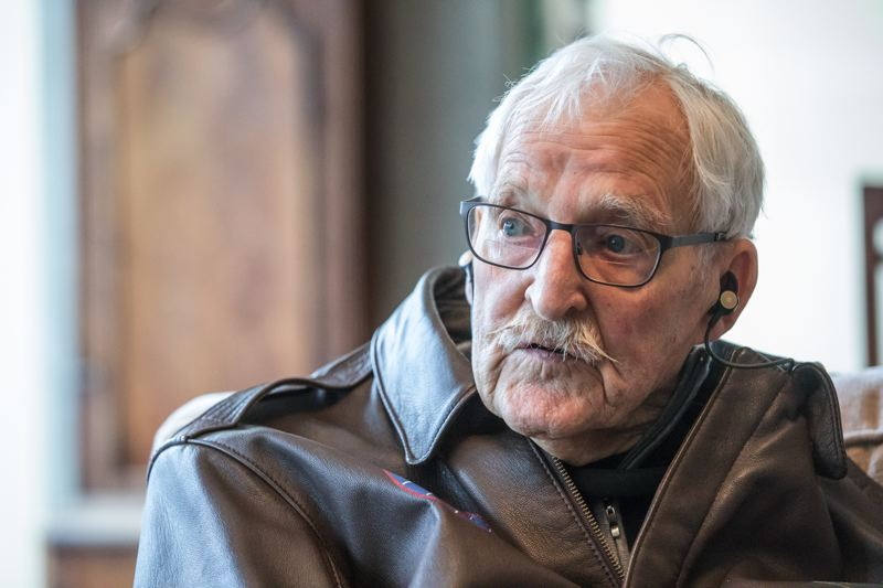 PORTLAND TRIBUNE: JONATHAN HOUSE - Retired Portland lawyer Jack Cramer was the navigator in the B-29 Superfortress nicknamed the Goin' Jessie in the Pacific Theater in WWII. At 94, he considers it the most important thing he has ever done in his life. The insert is a photograph of Jack and the rest of the crew taken at their base. He is the one wearing a hat.