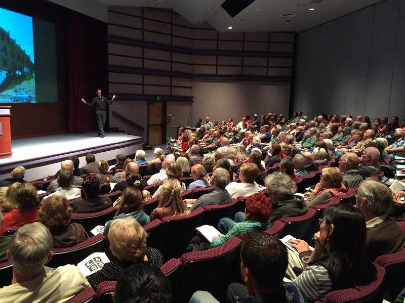 SUBMITTED PHOTO - With earthquake preparedness at the forefront of many peoples minds these days, Steven Eberleins (pictured) preparedness talks often pack venues.