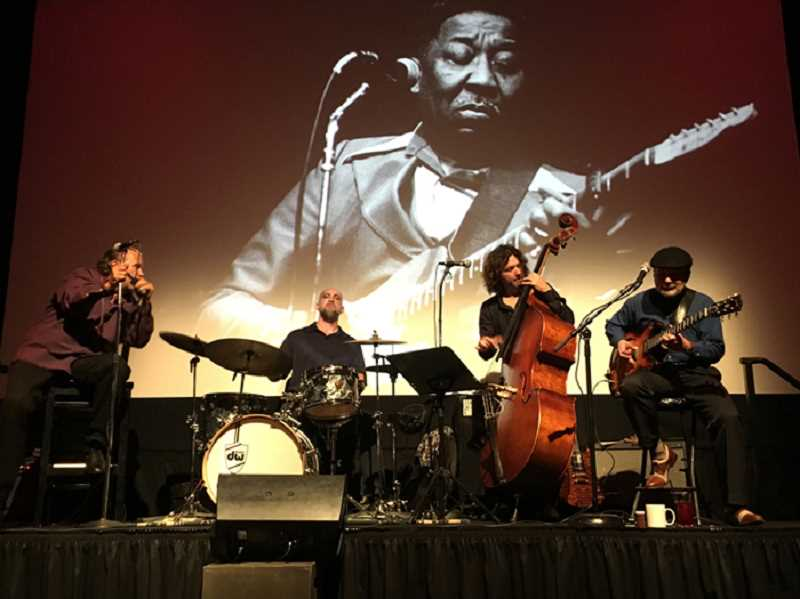 SUBMITTED PHOTO  - From left are Mitch Kashmar, Jimi Bott, Dean Mueller and Alan Hager, who will perform a Muddy Waters Celebration Nov. 13 at Lake Theater and Cafe. Get tickets now.