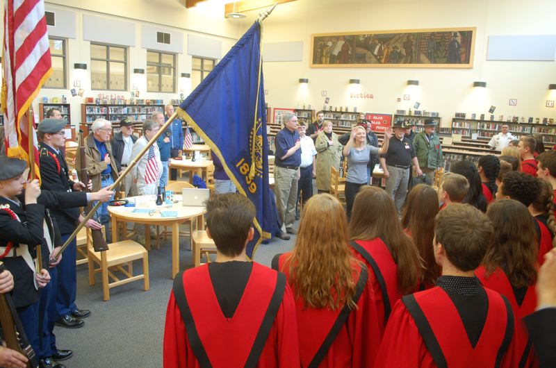 Students salute local veterans