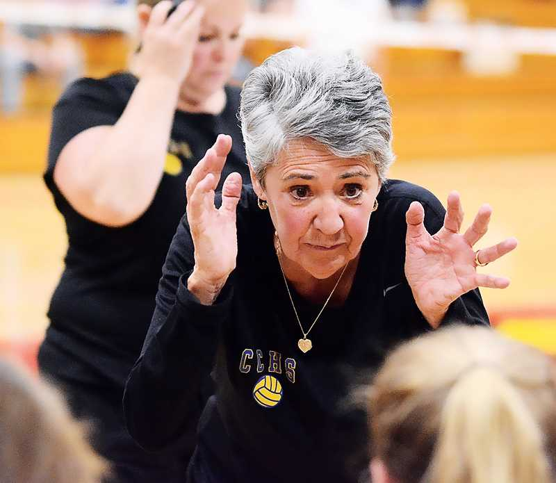 CENTRAL OREGONIAN FILE PHOTO  - Longtime Crook County High School volleyball coach Rosie Honl announced her retirement on Wednesday. Honl, who took over the Cowgirl volleyball program in 1996, led the team to eight consecutive state championships, and 12 consecutive state tournament trophies during her 22 seasons at CCHS.