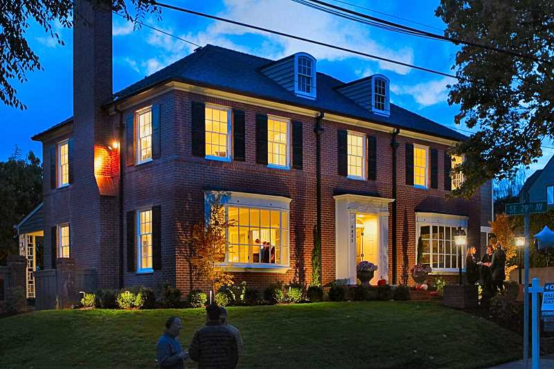 DAVID F. ASHTON - This Hemenway Colonial in Eastmoreland, owned by developers, has now been restored to its former stateliness, but with modern amenities - and now its for sale.