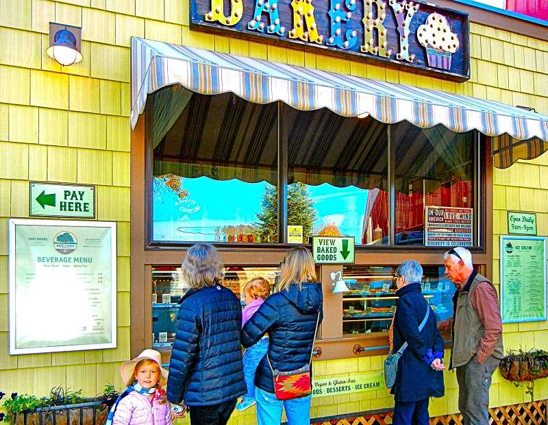 ELIZABETH USSHER GROFF - The new Back to Eden Bakery food cart on Woodstock Boulevard has a full display of its gourmet cakes, cookies, scones, pies and cupcakes for customers to peruse before making their selection.