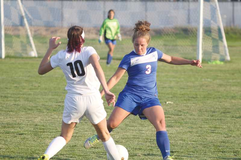 WILL DENNER/MADRAS PIONEER - Senior Alesha Freeman (3) earned all-league, first-team honors in the Tri-Valley Conference, as she played a key role in a Madras back line that posted six clean sheets during the regular season.