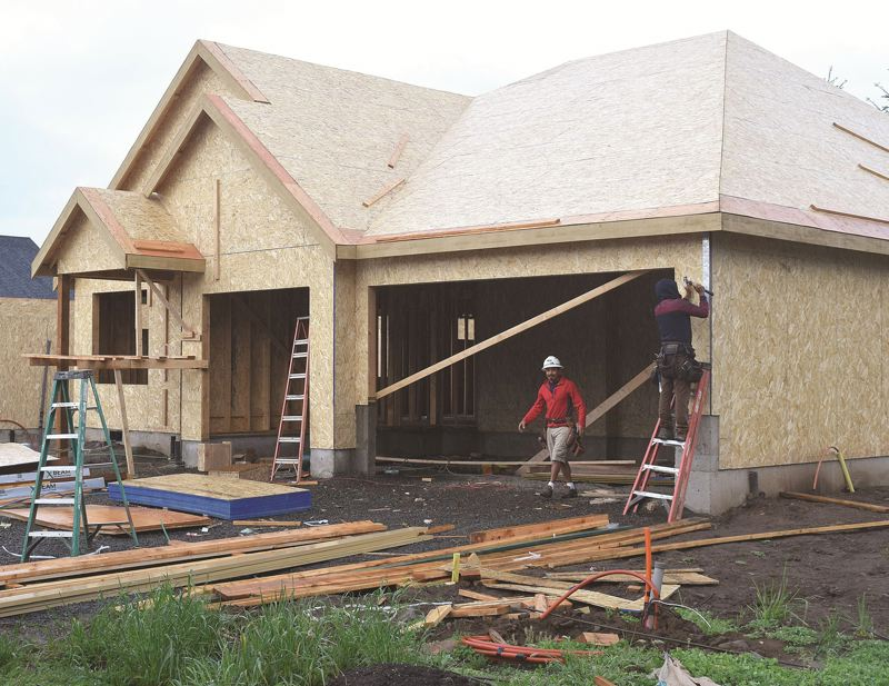 DANIEL PEARSON/CANBY HERALD - House under construction