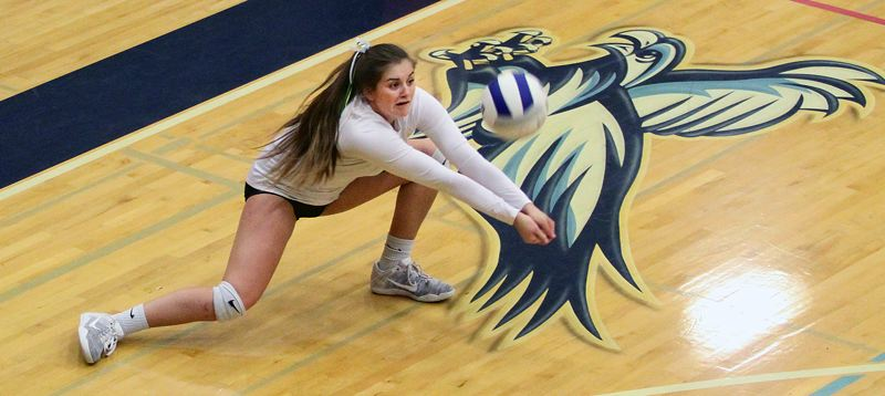 TIDINGS PHOTO: MILES VANCE - West Linn junior libero Ellie Snook was named Three Rivers League Player of the Year after leading the Lions to a league championship, and later, a third-place finish at state.