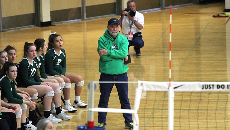 TIDINGS PHOTO: MILES VANCE - West Linn coach Carl Neuburger was named Three Rivers League Coach of the Year after leading the Lions to an undefeated league championship and a third-place finish at the state tournament.
