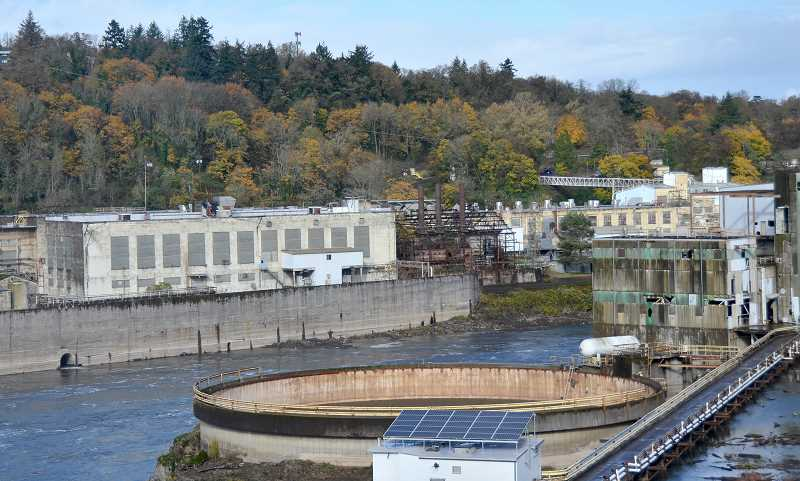 TIDINGS PHOTO: VERN UYETAKE - The sudden loss of West Linn Paper was felt throughout the community, and City officials say it will have a significant impact on the waterfront redevelopment planning that is in its early stages.