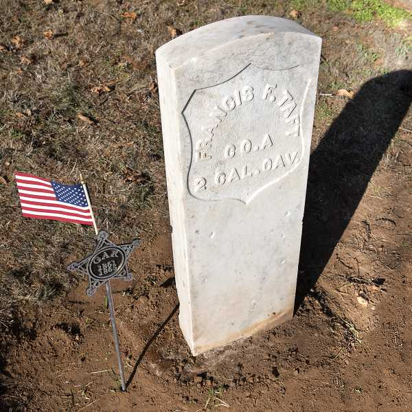 SUBMITTED PHOTO: LOURDES IRWIN - A Civil War medallion was also placed next to the rehabilitated stone.