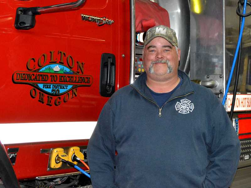 PIONEER PHOTO: CINDY FAMA - Lt. Doug Dolney was recently named Colton Firefighter of the Quarter.