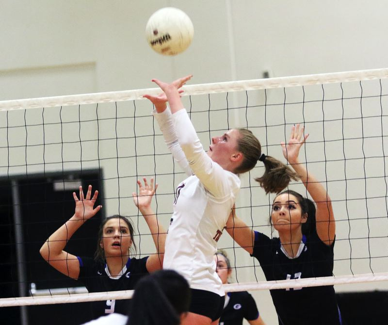 DAN BROOD - Tualatin sophomore setter Jackie Phillips was a first-team All-Three Rivers League selection for the 2017 season.