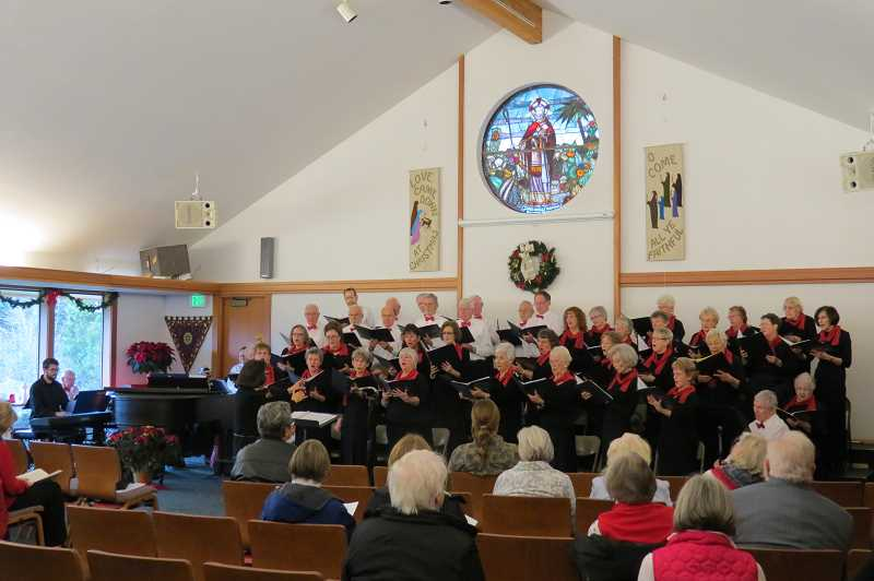 SUBMITTED PHOTO - The I-5 Connection Chorus will present their holiday concert at the Meridian United Church of Christ in Wilsonville on Dec. 2 at 3 p.m.