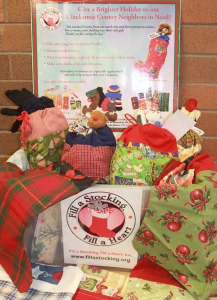 PHOTO COURTESY: FASFAH - Fill A Stocking, Fill A Heart donations ready to deliver last year.