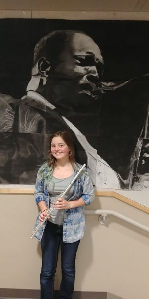 SUBMITTED PHOTO: LESLIE ROBINETTE - Kraxberger Middle School student Grace Christiansen was chosen for the All-State Honor Band.