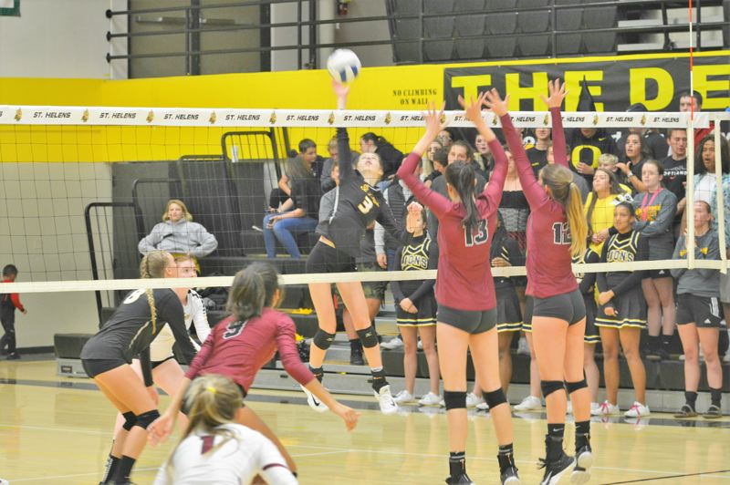 SPOTLIGHT PHOTO: JAKE MCNEAL - Setter Marissa Eib (3) is a second-teamer.