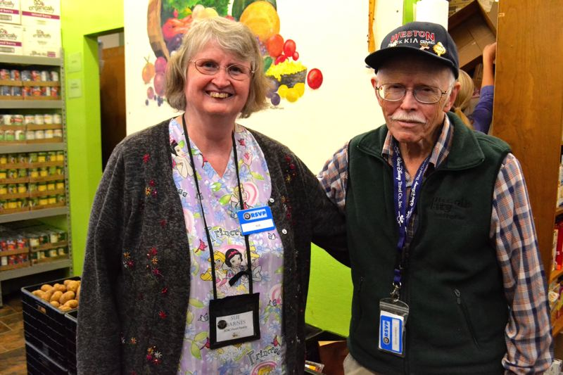 POST PHOTO: BRITTANY ALLEN - Sue and Doug Barnes started volunteering with the Sandy Community Action Center three years ago.