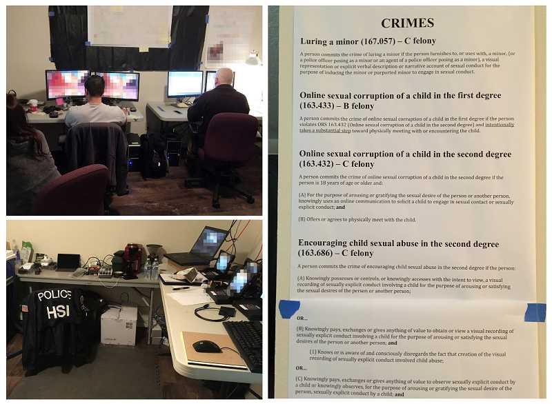 CLACKAMAS COUNTY SHERIFF'S OFFICE - The Clackamas County Sheriff's Office held a weekend sting on Nov. 17-19 to catch persons involved in child exploitation.