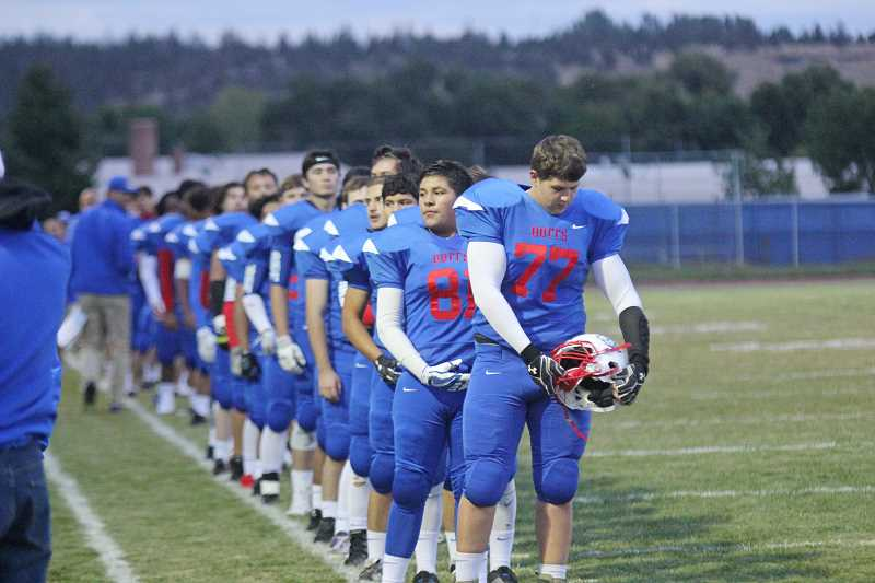 WILL DENNER/MADRAS PIONEER - Compared to numbers from nine years ago, the number of boys and girls who played prep football in Oregon this fall — 12,469 — reflected a 17 percent drop. Much of that decrease can be attributed to increased awareness and concern about head injuries that football causes. Oregon, however, is taking steps in hopes of making the sport safer, and more popular, for kids to play.