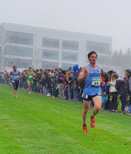 PHOTO CREDIT: DEBBIE HUMPHREY - Indians senior John Kavulich came up 40th in 16 minutes, 36.40 seconds in his second Nike Border Clash boys' 5,000-meter run.