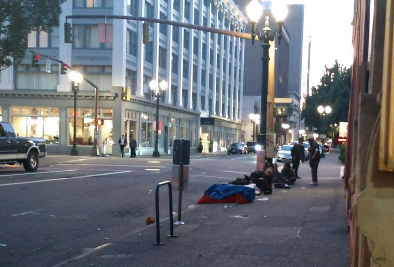 KOIN 6 NEWS - Business owners in downtown Portland say homeless people sitting and sleeping on the streets is turning away customers.