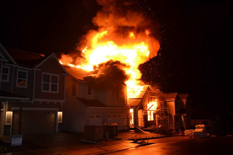 PHOTO COURTESY OF WASHINGTON COUNTY SHERIFF'S OFFICE - A suspicious blaze is being investigated in the Bethany neighborhood.
