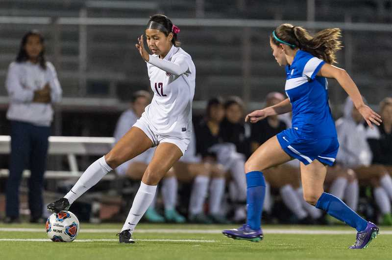 HILLSBORO TRIBUNE PHOTO: CHRISTOPHER OERTELL - Glencoe's Celeste Molina-Sanchez during a playoff game against St. Mary's. Molina was selected as the Metro League Player of the Year.