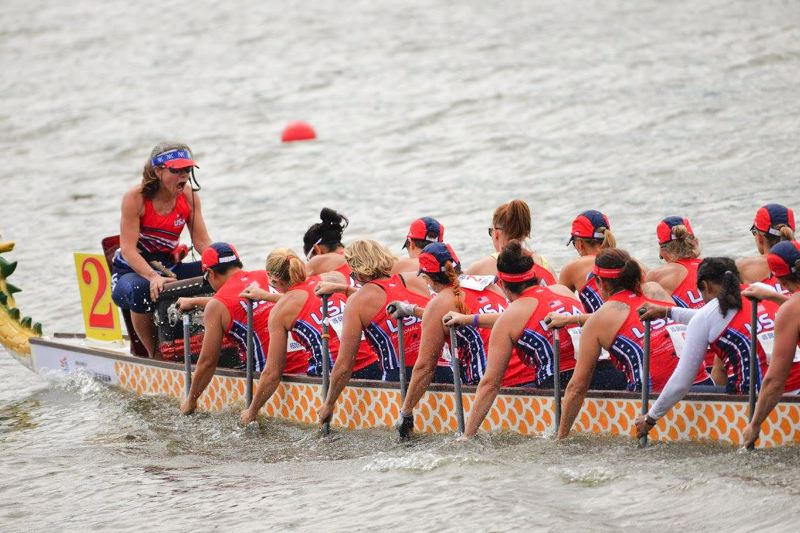 CONTRIBUTED PHOTO: RACHEL BELINO - Angie Kautz, 44, rowed for the Women's Senior A-Division team, which consited of 22 women from around the U.S.