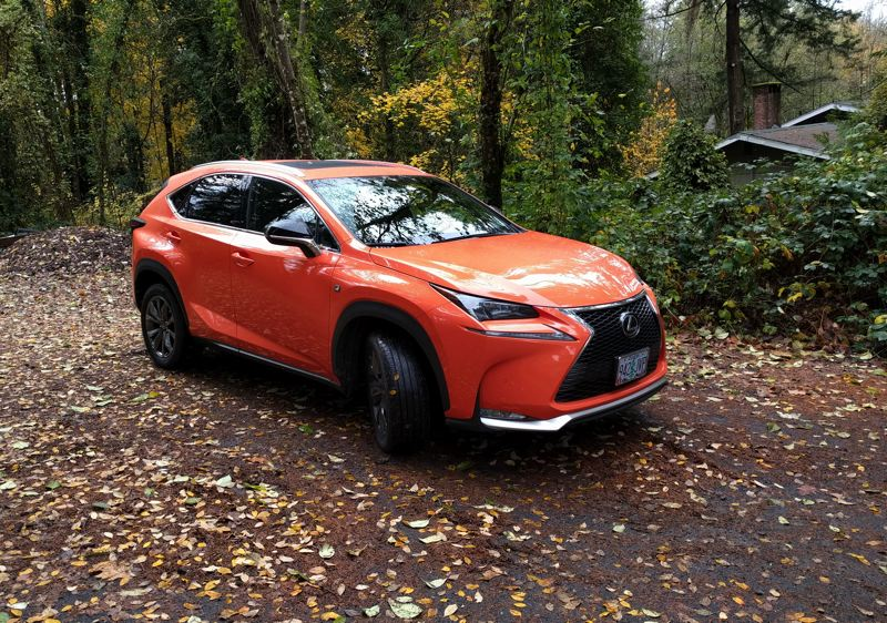 PORTLAND TRIBUNE: JIM REDDEN - The 2017 Lexus NX 200t F Sport is aggressively styled and standfs out even more in its optional Molten Pearl paint.