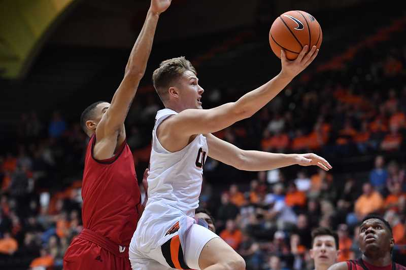 SUBMITTED PHOTO - Reichle is now a supporting player rather than the top guy on his team. The Wilsonville alum has adjusted well to balancing school work and his athletic responsibilities.