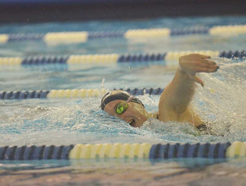 HERALD PHOTO: COREY BUCHANAN - Canby senior Kaitlyn Hester returns to swim for the Cougars in the upcoming season as one of the leaders on the girls team.