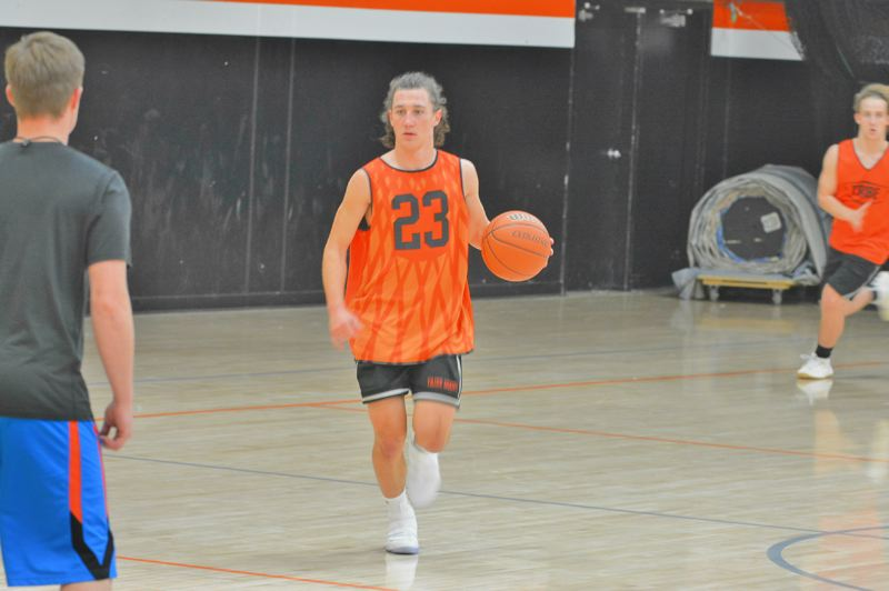 SPOTLIGHT PHOTO: JAKE MCNEAL - Jerad Toman runs the point at practice.