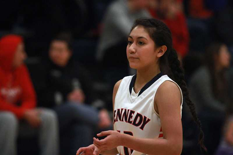 PHIL HAWKINS - After a strong summer season, Kennedy sophomore Ibeth Gomez is ready to take on an expanded role with the Trojans, lending her speed and athleticism to the team's defense-first mentality.