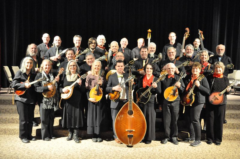 COURTESY PHOTO - The Oregon Mandolin Orchestra presents and annual holiday show at the Walters; this year with special guests, Caravan Gogh.