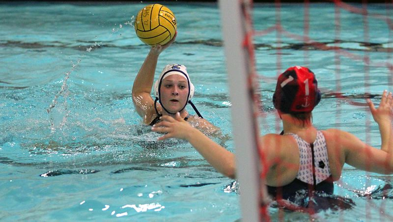 REVIEW PHOTO: MILES VANCE - Lakeridge senior Maddie Grimes led her team into the Oregon High School Water Polo state playoffs and was recently named to the all-Three Rivers League first team.