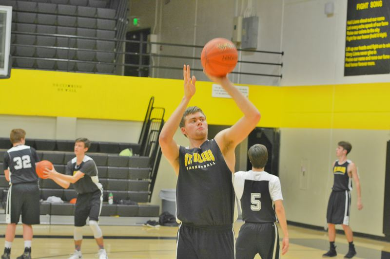 SPOTLIGHT PHOTO: JAKE MCNEAL - Jacob Falk and the Lions aim for sharper shooting in their electric offense.