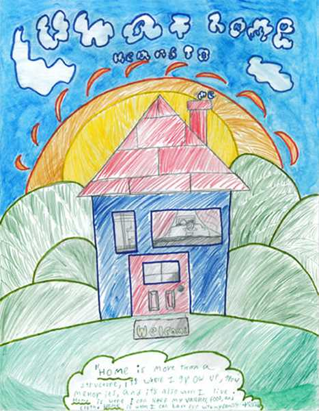 SUBMITTED - Mischa Larkins said he didn't have any particular inspiration for his poster, which features a 'basic house,' in his estimation, with blue walls and a red roof.