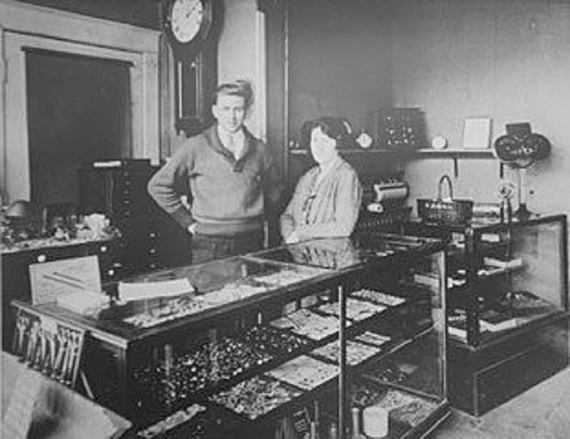 COURTESY PHOTO - Piper's Jewelry started as E.E. Piper Jeweler in downtown Woodburn in 1923 by watch maker Ed Piper, pictured above with his wife Edith.