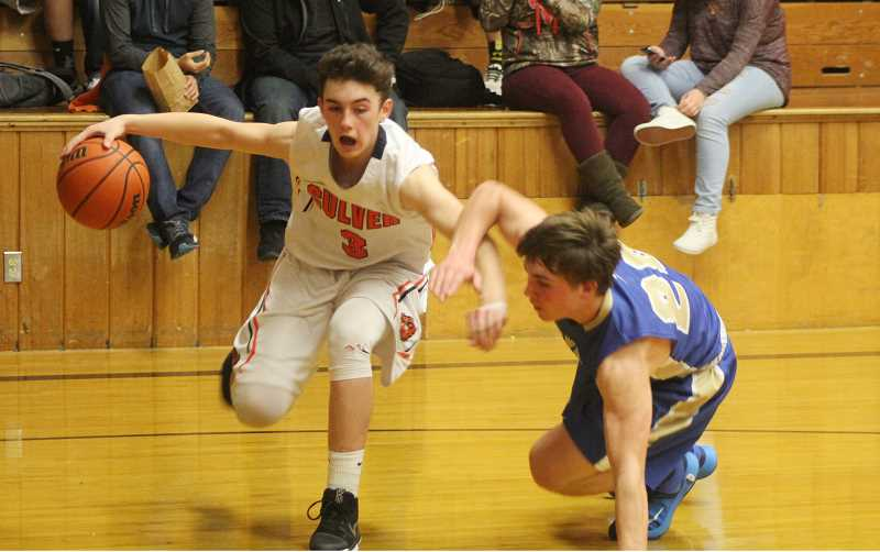 WILL DENNER/MADRAS PIONEER - Along with Matt Krueger, senior Weston Basl (3) figures to be one of Culver's primary scoring options once again from his wing position.