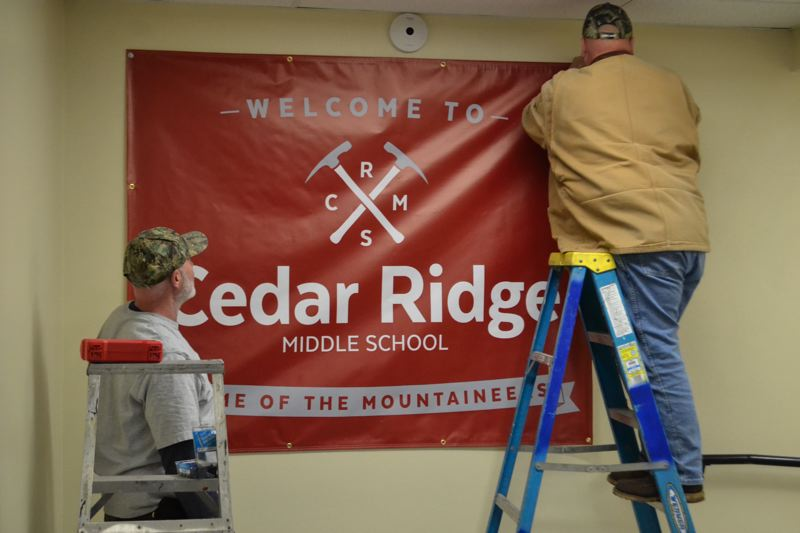POST PHOTO: BRITTANY ALLEN - Cedar Ridge staff brought more than just an eager student body to the old Pioneer Building, but a whole new brand.