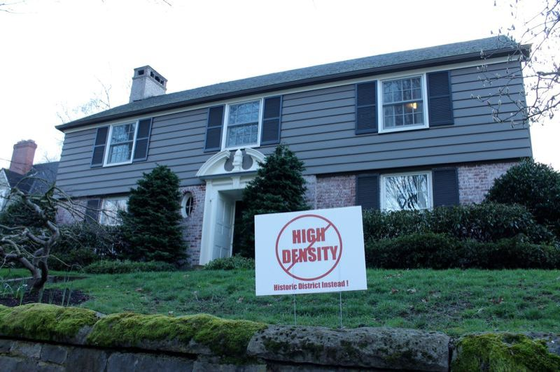 PORTLAND TRIBUNE: LYNDSEY HEWITT - Increased desnity is at the center of the fight over declaring Eastmoreland an historic district.