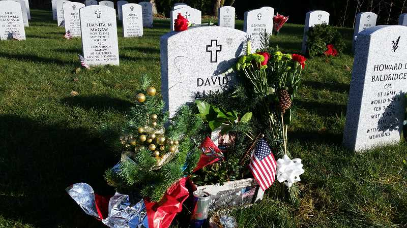 COURTESY PHOTO - David Bauders is buried in the Tahoma National Cemetery in Kent, Wash.