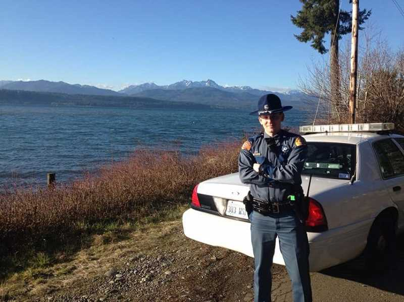 COURTESY PHOTO - This photo of Bauders as a Washington State Trooper was taken in 2013, early in his career.