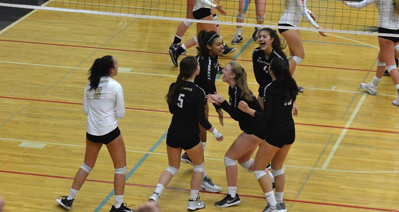 TIMES FILE PHOTO - The Southridge volleyball had five of their six starters make an all-Metro League teams after winning the Class 6A state championship.
