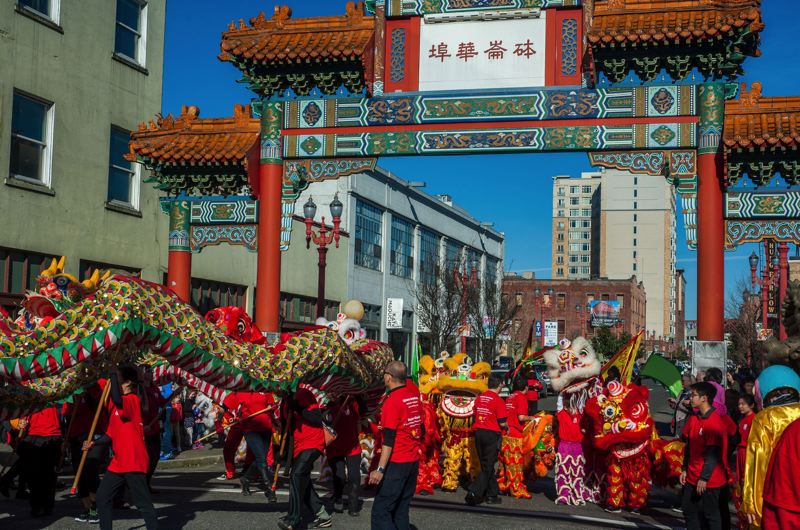PAMPLIN MEDIA GROUP: FILE PHOTO - The iconic Chinatown Gate, shown here on Chinese New Year, won $100,000 toward the second phase of its restoration.