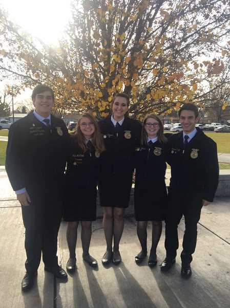 SUBMITTED PHOTO - A Team members from left to right are John Cross, Halie McCloud, Jessica Rhoades, Samantha Moore and Josh Kropf.