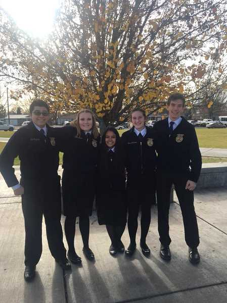 SUBMITTED PHOTO - B Team members from left to right are Noe Reynaga, Faith Ablen, Emilie Mendoza, Emma Andrews and Clay Sperl.