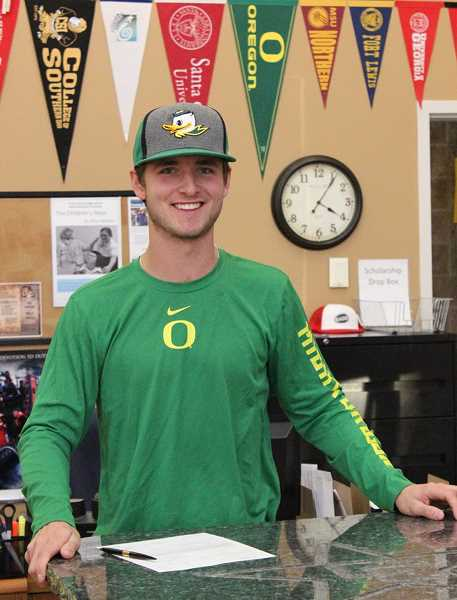 PHOTO COURTESY OF AMY DUKE - Crook County High School senior Heath Pickhardt has signed a letter of intent to play baseball at the University of Oregon. Pickhardt has played catcher each of the last three years for the Cowboys.
