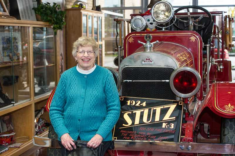HILLSBORO TRIBUNE PHOTO: CHRISTOPHER OERTELL - Pat Joyaux and her husband, Richard Christensen, lived in the old fire station in downtown Hillsboro in the 1960s. Christensen was a strong proponent of the departments annual toy drive, which continues to this day.